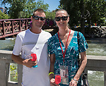Michael and Carol Ann during the Reno Wine Walk in downtown Reno on Saturday, June 17, 2017.