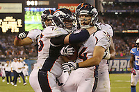 10/15/12 San Diego, CA: Denver Broncos wide receiver Brandon Stokley #14 and Chris Kuper #73 during an NFL game played between the San Diego Chargers and the Denver Broncos at Qualcomm Stadium. The Broncos defeated the Chargers 35-24.