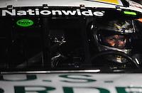 May 2, 2008; Richmond, VA, USA; NASCAR Nationwide Series driver Kenny Wallace sits in his car in the garage during the Lipton Tea 250 at the Richmond International Raceway. Mandatory Credit: Mark J. Rebilas-US PRESSWIRE