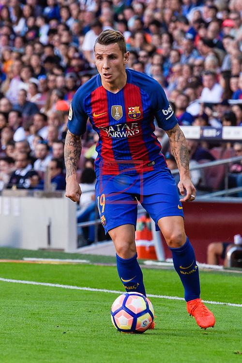 League Santander 2016/2017. Game: 8.<br /> FC Barcelona vs Deportivo: 4-0.<br /> Lucas Digne.