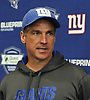 Tom Quinn, New York Giants Special Teams Coordinator, speaks to the media during the first day of team Rookie Camp at Quest Diagnostics Training Center in East Rutherford, NJ on Friday, May 12, 2017.