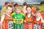 Rathmore/Gneeveguilla's David Gleeson, Cathal Collins, Sho?na Gleeson and Ronan Collins running at the Denny County Community Games in An Riocht Castleisland on Sunday      Copyright Kerry's Eye 2008