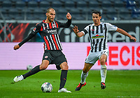 v.l. Bas Dost (Eintracht Frankfurt), Nicolas Hoefler (SC Freiburg)- 26.05.2020 Fussball 1.Bundesliga Spieltag 28, Eintracht Frankfurt  - SC Freiburg emspor, <br /> <br /> Foto: Jan Huebner/Pool/ Via Marc Schueler/Sportpics.de<br /> (DFL/DFB REGULATIONS PROHIBIT ANY USE OF PHOTOGRAPHS as IMAGE SEQUENCES and/or QUASI-VIDEO), Editorial use only. National and International News Agencies OUT