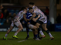 Bath Rugby's Ruaridh McConnochie in action during todays match<br /> <br /> Photographer Bob Bradford/CameraSport<br /> <br /> Gallagher Premiership - Bath Rugby v Gloucester Rugby - Monday 4th February 2019 - The Recreation Ground - Bath<br /> <br /> World Copyright © 2019 CameraSport. All rights reserved. 43 Linden Ave. Countesthorpe. Leicester. England. LE8 5PG - Tel: +44 (0) 116 277 4147 - admin@camerasport.com - www.camerasport.com