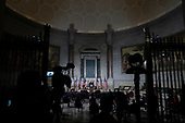 United States President Donald J. Trump makes remarks at the White House Conference on American History in observance of Constitution Day at the National Archives in Washington, DC on Thursday, September 17, 2020.  <br /> Credit: Alex Edelman / Pool via CNP