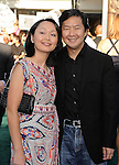 "WESTWOOD, CA - JULY 06: Ken Jeong and Tran Ho  arrive to the ""Zookeeper"" Los Angeles Premiere at Regency Village Theatre on July 6, 2011 in Westwood, California."