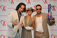 Constantine Maroulis and Caroline and Eric Villency attend The Let's Misbehave Party to Benefit Love Heals on July 19, 2014 (Photo By Taylor Donohue/Guest Of A Guest)
