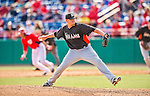 9 March 2013: Miami Marlins pitcher Jordan Smith on the mound during a Spring Training game against the Washington Nationals at Space Coast Stadium in Viera, Florida. The Nationals edged out the Marlins 8-7 in Grapefruit League play. Mandatory Credit: Ed Wolfstein Photo *** RAW (NEF) Image File Available ***