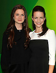 Bonnie Wright and Kristin Davis on stage for Oxfam Presents Eight Stories High,Oxfam supporters take to the stage for evening of storytelling and performance marking the humanitarian charity's 70th anniversary. The inaugural event sees performances from afro urban dance company Tabu Flo and video contributions from Oxfam Global Ambassadors Colin Firth, Livia Firth and Angelique Kijdo Picture By: Brian Jordan / Retna Pictures.. ..-..