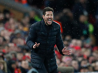 Diego Simeone manager of Atletico Madrid during the UEFA Champions League match at Anfield, Liverpool. Picture date: 11th March 2020. Picture credit should read: Darren Staples/Sportimage PUBLICATIONxNOTxINxUK SPI-0539-0035<br /> Liverpool 11/03/2020 Anfield <br /> Football Uefa Champions League 2019/2020 <br /> Round of 16 second leg <br /> Liverpool - Atletico Madrid <br /> Photo Imago/Insidefoto <br /> ITALY ONLY