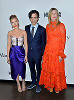 """LOS ANGELES, USA. November 06, 2019: Scarlett Johansson, Noah Baumbach & Laura Dern at the premiere for """"Marriage Story"""" at the DGA Theatre.<br /> Picture: Paul Smith/Featureflash"""