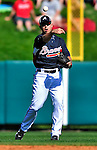 13 March 2010: Atlanta Braves' infielder Brandon Hicks in action during a Spring Training game against the Toronto Blue Jays at Champion Stadium in the ESPN Wide World of Sports Complex in Orlando, Florida. The Blue Jays shut out the Braves 3-0 in Grapefruit League action. Mandatory Credit: Ed Wolfstein Photo