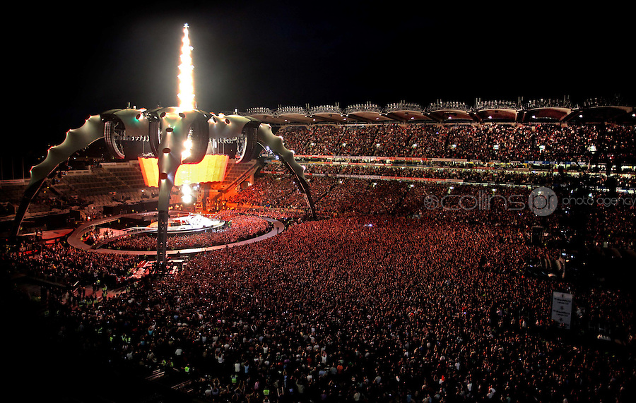 U2 in performance during the 360° Tour at Croke Park, Dublin..Photo: Gareth Chaney Collins