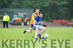 Conor Kearney Spa and Kevin Flynn Laune Rangers race for the loose ball during their SFL Div 2 game in Spa on Sunday