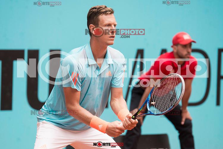 Czech Tomas Berdych during Mutua Madrid Open Tennis 2017 at Caja Magica in Madrid, May 10, 2017. Spain.<br /> (ALTERPHOTOS/BorjaB.Hojas) /NortePhoto.com **NortePhoto.com