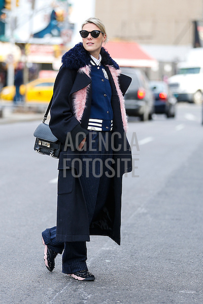 Street style<br /> New York Fashion Week _ Inverno 2016<br /> foto: Leo Faria/ FOTOSITE