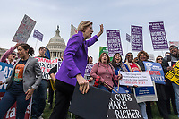 United States Senator Elizabeth Warren (Democrat of Massachusetts) takes the stage during a rally led by United States Congressional Democrats against United States President Donald J. Trump's proposed tax plan outside the United States Capitol in Washington, D.C. on November 1st, 2017.<br /> Credit: Alex Edelman / CNP /MediaPunch