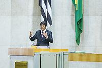 SÃO PAULO, SP - 26.09.2013: APRESENTAÇÃO DO PLANO DIRETOR ESTRATÉGICO (PDE) - O Prefeito de São Paulo Fernando Haddad durante a apresentação da versão final do Plano Diretor Estratégico (PDE), à Câmara Municipal nesta quinta-feira (26). O processo de revisão participativa do PDE, dividido em quatro etapas, teve início em abril deste ano com a promoção de reuniões abertas à população. (Foto: Marcelo Brammer/Brazil Photo Press)