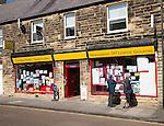 Traditional newsagent shop, Seahouses, Northumberland, England, UK