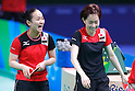 (L-R) Mima Ito, Kasumi Ishikawa (JPN), <br /> AUGUST 4, 2016 - Table Tennis : <br /> Men's and Women's Training session <br /> at Riocentro - Pavilion 3 <br /> during the Rio 2016 Olympic Games in Rio de Janeiro, Brazil. <br /> (Photo by Sho Tamura/AFLO SPORT)