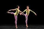 DUETS....Choregraphie : CUNNINGHAM Merce..Mise en scene : CUNNINGHAM Merce..Compositeur : CAGE John..Decor : LANCASTER Mark..Lumiere : LANCASTER Mark SHALLENBERG Christine..Avec :..CROSSMAN Dylan..TOOGOOD Melissa..Lieu : Theatre de la Ville..Ville : Paris..Le : 20 12 2011 &copy; Laurent Paillier / photosdedanse.com<br /> All rights reserved