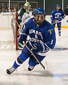 Matt Lemire (UMB - 8) - The UMass Boston Beacons defeated the Babson College Beavers 5-1 on Thursday, January 12, 2017, at Fenway Park in Boston, Massachusetts.