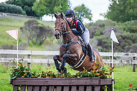 NZL-Mel Baker rides Triple X during the Peninsula Medical CNC95 Restricted Cross Country. 2018 NZL-AESI Auckland Anniversary Horse Trial. Woodhill Sands. Auckland. Copyright Photo: Libby Law Photography