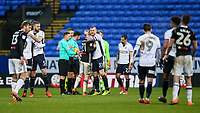 Players from both teams shake hands at the end of the match<br /> <br /> Photographer Andrew Kearns/CameraSport<br /> <br /> The EFL Sky Bet Championship - Bolton Wanderers v Fulham - Saturday 10th February 2018 - Macron Stadium - Bolton<br /> <br /> World Copyright &copy; 2018 CameraSport. All rights reserved. 43 Linden Ave. Countesthorpe. Leicester. England. LE8 5PG - Tel: +44 (0) 116 277 4147 - admin@camerasport.com - www.camerasport.com