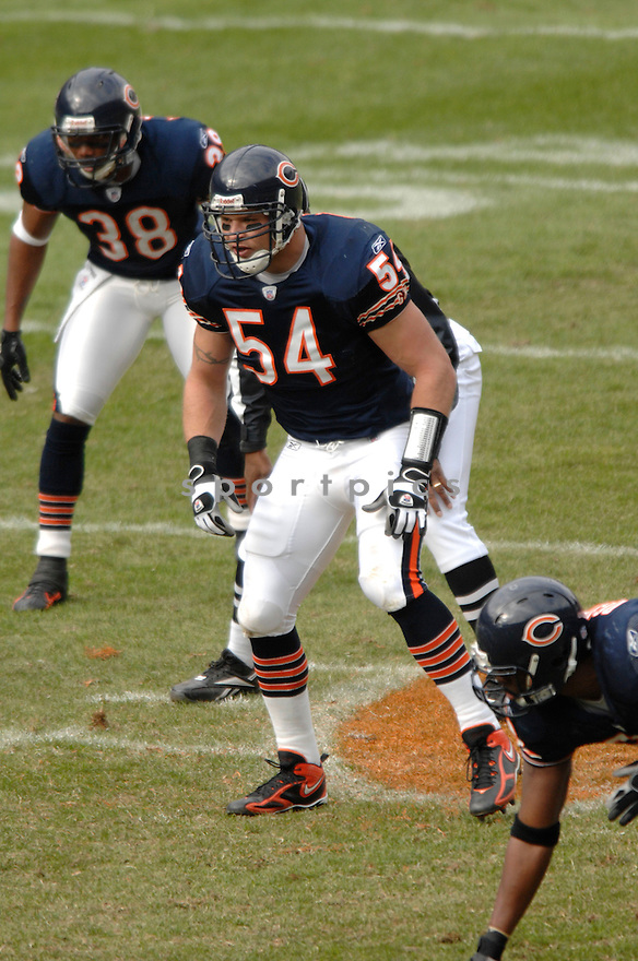 BRIAN URLACHER, of the Chicago Bears, in action against the Miami Dolphins on November 5, 2006, in Pittsburgh, PA. ..Dolphins win 31-13..David Durochik / SPORTPICS