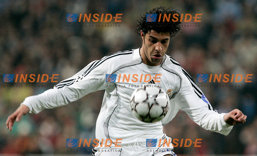 Real Madrid's Miguel Torres during UEFA Champions League match at Santiago Bernabeu stadium in Madrid, Tuesday February 20, 2007. (ALTERPHOTOS/Alvaro Hernandez).