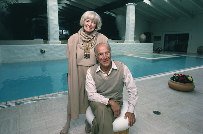 Vintner Robert Mondavi and his wife Margrit Mondavi in their home in Napa Valley