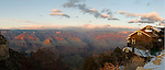 Sun sets over the Grand Canyon near historic Kolb Studio. I could only wish to share as many Canyon adventures as the Kolb Brothers, who used this building as a photo studio and darkroom.