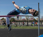 Reed's Robert Ferrel competes in the boys high jump during the Reed Sparks Rotary Invitational track and field event at Reed High School in Sparks, Saturday, April 1, 2017.
