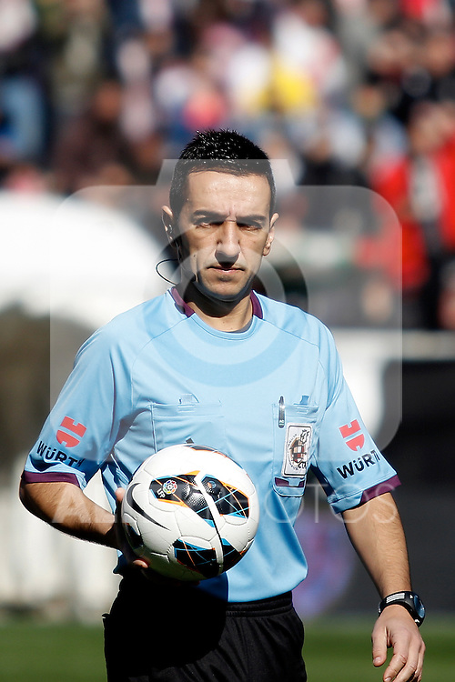 Referee Pedro Jesus Perez Montero during La Liga  match. February 24,2013.(ALTERPHOTOS/Alconada)