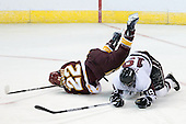 Mike Connolly (Duluth - 22), Kelly Zajac (Union - 19) - The University of Minnesota-Duluth Bulldogs defeated the Union College Dutchmen 2-0 in their NCAA East Regional Semi-Final on Friday, March 25, 2011, at Webster Bank Arena at Harbor Yard in Bridgeport, Connecticut.