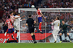 Jose Maria Gimenez of Atletico de Madrid during La Liga match between Atletico de Madrid and Real Madrid at Wanda Metropolitano Stadium in Madrid, Spain. September 28, 2019. (ALTERPHOTOS/A. Perez Meca)