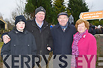 Charlie and Liam Joy with Jim and Peig Kelly at the Headford Ambush commemoration on Sunday..