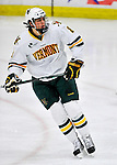 22 November 2011: University of Vermont Catamount forward Sebastian Stalberg, a Junior from Gothenburg, Sweden, in action against the University of Massachusetts Minutemen at Gutterson Fieldhouse in Burlington, Vermont. The Catamounts defeated the Minutemen 2-1 in their annual pre-Thanksgiving meeting of the Hockey East season. Mandatory Credit: Ed Wolfstein Photo