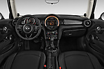 Stock photo of straight dashboard view of 2017 MINI Cooper 3-door 3 Door Hatchback Dashboard