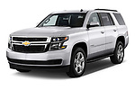 Front three quarter view of a 2015 Chevrolet Tahoe 2WD LT 5 Door SUV