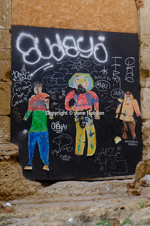 Lisbon, Portugal. 21.03.2015. Street art and graffiti in the Alfama district of Lisbon. © Jane Hobson.