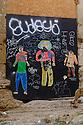 Lisbon, Portugal. 21.03.2015. Street art and graffiti in the Alfama district of Lisbon. © Jane Hobson.