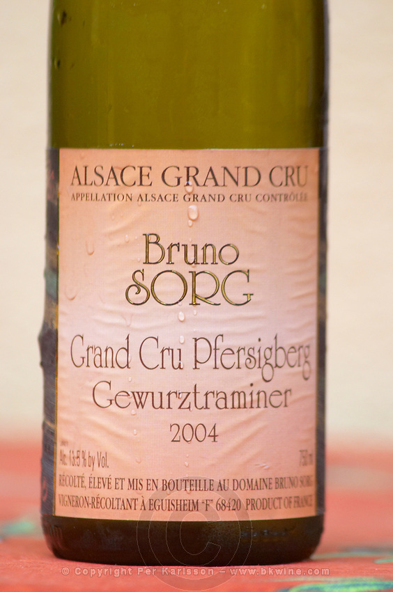 grand cru pfersigberg gewurztraminer 2004 dom bruno sorg eguisheim alsace france