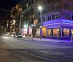 Rotterdam, 16 maart 2010<br /> Philips LED-verlichting aan de Willemskade<br /> Foto Felix Kalkman