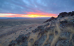 Idaho, Southwest, Boise Kuna. Autumn Sunset from a rise in the Birds of Prey Natural Area South of Boise.
