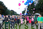 Balloons being released on Monday at the remembrance ceremony organised by the Open Arms Project in Pearse Park, Tralee..