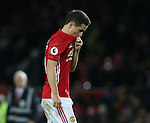 Ander Herrera of Manchester United walks off dejected during the Premier League match at the Old Trafford Stadium, Manchester. Picture date: November 27th, 2016. Pic Simon Bellis/Sportimage