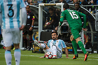 Seattle, WA - Tuesday June 14, 2016: Argentina forward Ezequiel Lavezzi (22)  attempts to maintain possession during a Copa America Centenario Group D match between Argentina (ARG) and Bolivia (BOL) at CenturyLink Field