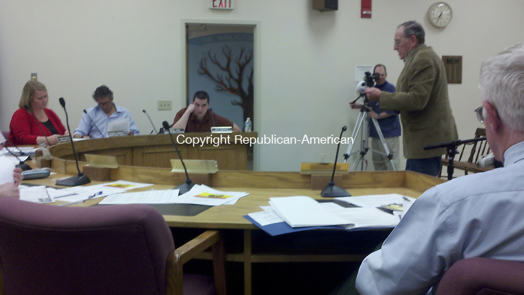 WINSTED, CT - 11 March 2014 - 031114KM01 - Winsted Commission on Persons with Disabilities Chairman Arthur W. Melycher addresses the school board Tuesday night regarding complaints from parents of special education students. Kurt Moffett Republican-American