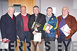 Attending the Kerry GAA AGM in the Malton hotel Killarney on Monday were l-r: Paddy Fogarty Waterville, Patrick Griffin Renard, Christy O'Connell St Mary's Caherciveen, Joesph McCrohan Renard and William A Goggin St Michaels Foilmore
